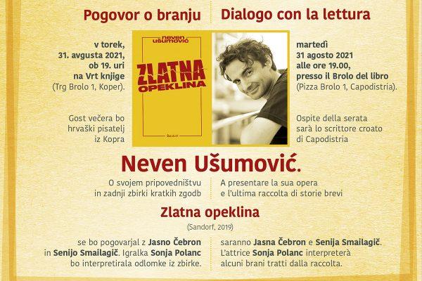 Pogovori o branju: Neven Ušumović – Zlatna Opeklina